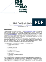 ISO27k ISMS Auditing Guideline Release 1[1]