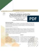 Pautas de conducta constructiva en psicomotricidad a los 2 años