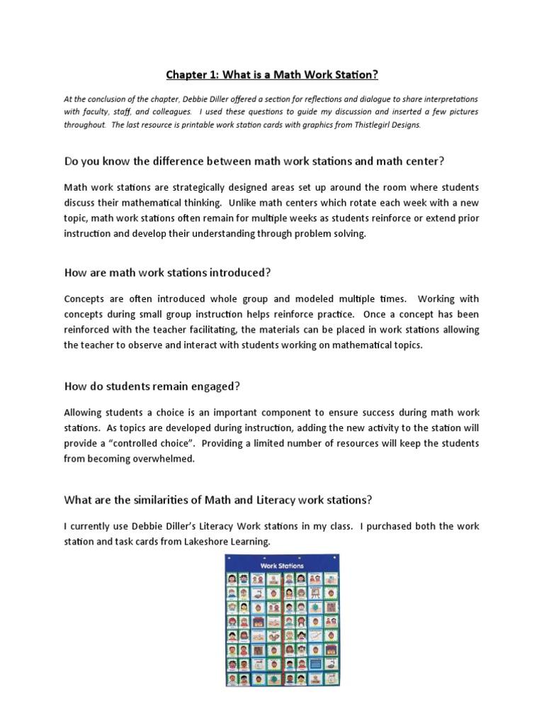 Math Work Stations Chapter 1 and 2 | Physics & Mathematics | Mathematics