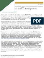Televisa, Los Abismos de La Ignominia