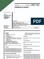 NBR 11682 Estabilidade de Taludes