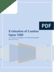 Evaluation of Lumbar Spine MRI