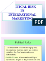 Political RISK IN INTERNATIONAL MARKETING