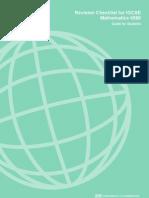 Revision Checklist for IGCSE Mathematics 0580 FINAL