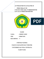 Laporan Praktikum Analitik II