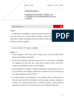 2010 - Volume 3 - Caderno do Aluno - Ensino Médio - 1ª Série - Geografia