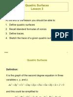 3Quadric Surfaces Lesson 3