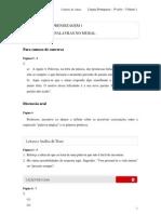 2010 - Volume 1 - Caderno do Aluno - Ensino Médio - 1ª Série - Língua Portuguesa