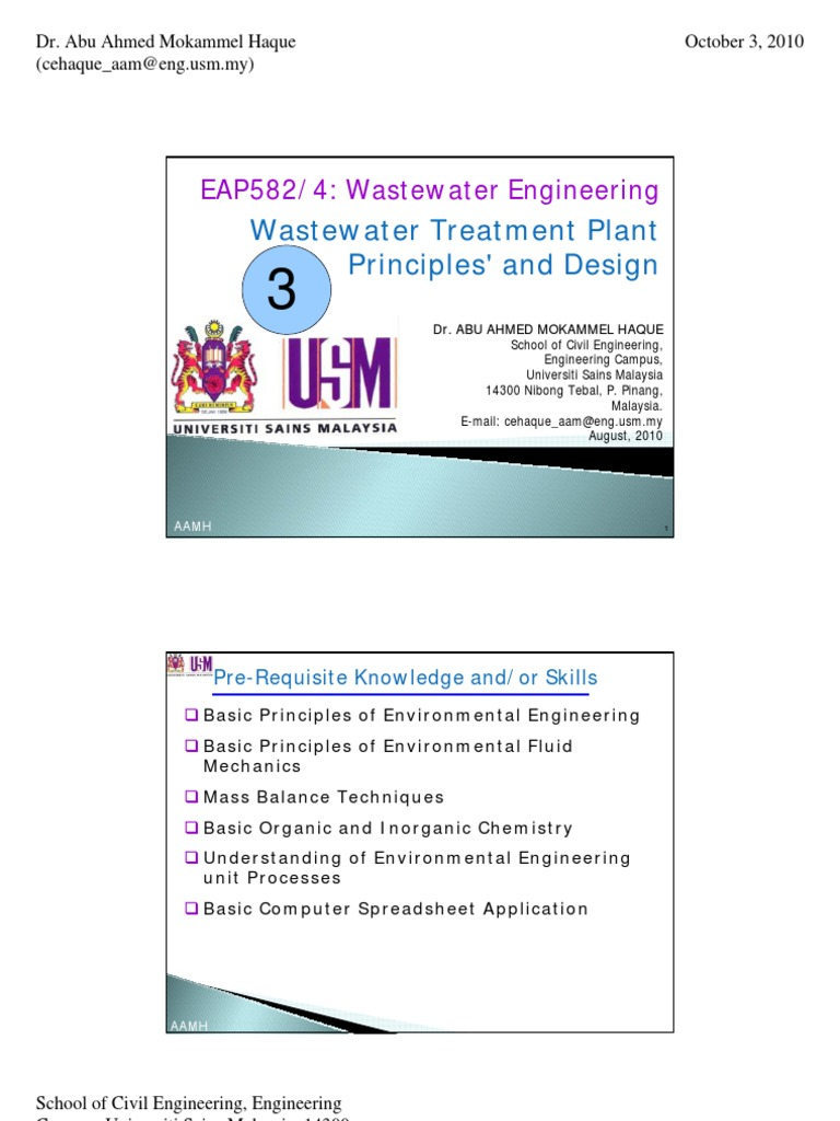 3  EAP 582 4 Waste Water Engineering Treatment Principles and