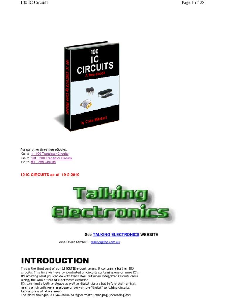 100 Ic Circuits Integrated Circuit Electronic 555 Oscillator Police Siren