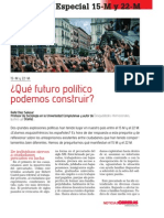 15-M y 22-M. Qué futuro político podemos construir