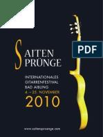 PROGRAMM SAITENSPRÜNGE 2010