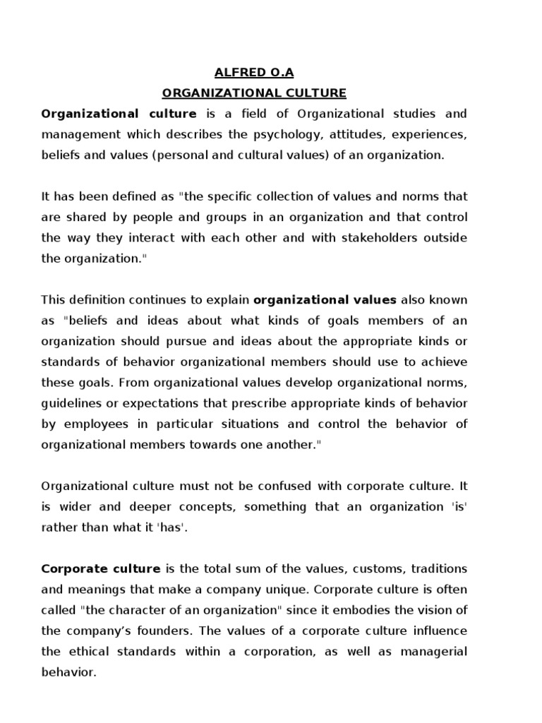 beyond organisational culture | organizational culture | value (ethics)