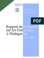 Rapport de l'enquête sur les Entreprises à Madagascar 2005 (INSTAT- 2006)