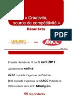 Présentation Résultats AACC Créativité_Mai 2011