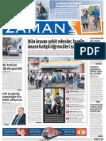 Dün imamı şehit edenler, bugün imam-hatipli öğrencileri yakıyor Zaman Gazetesi 29/05/2011
