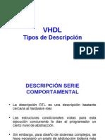 VHDL - Descripción Serie Comportamental