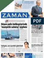 Düşen polis helikopterinde 'manyetik sabotaj' şüphesi Zaman Gazetesi 30/05/2011