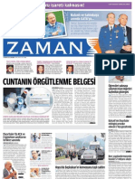 Cuntanın örgütlenme belgesi Zaman Gazetesi 01/06/2011