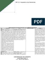 Sección 29 y NIC 12 Comparacion