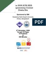 Problem Set With Analysis Dhaka2008