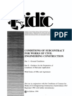 Fidic-conditions of Subcontract Agreement