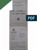Criteri d'Impiego Dei Reparti Skiatori - 1917