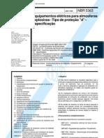 NBR 5363 - 1998 - Equipamentos Eletricos p Atmosferas Explosivas - Tipo de Protecao d - Especificacao