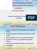 970730-Guidelines of Agricultural Policies in Taiwan