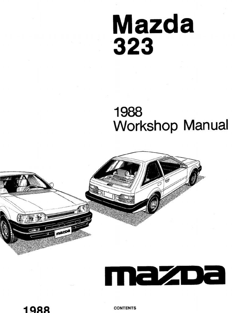 complete 1988 mazda 323 workshop manual belt mechanical rh es scribd com Performance Mazda B3 Mazda B3000