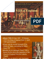 Henry VIII and the Reformation in England Final