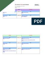 Edexcel June 2011 Igcse Final Timetable