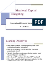 Multinational Capital Budgeting.st