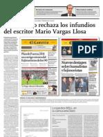 El Comercio Rechaza Los Infundios Del Escritor Mario Vargas Llosa