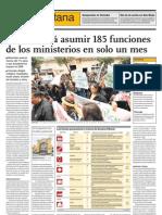 Lima deberá asumir 185 funciones de los ministerios en solo un mes