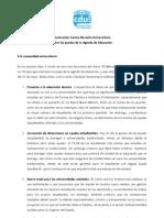 2da Declaración Centro Derecha Universitaria