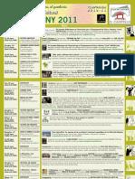 Programación Cultural Junio 2011