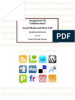 "Social bookmarking websites, ""ASSIGNMENT 3b - SOCIAL SOFTWARE AND WEB 2.00"""