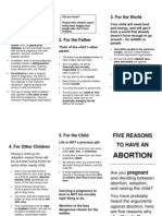 Five Reasons to Have an Abortion