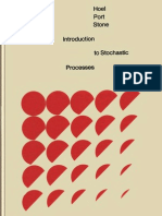 Introduction to Stochastic Processes by Paul Gerhard Hoel , Sidney C. Port, Charles J. Stone