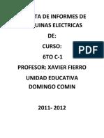 Informes de Maquinarias Electric as 1