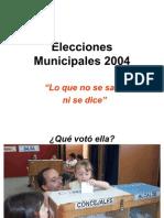 Elecciones Alcaldes 2004, Final