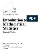 Introduction to Mathematical Statistics by Robert V. Hogg & Allen Craig