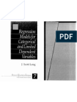 Regression Models for Categorical and Limited Dependent Variables by J. Scott Long