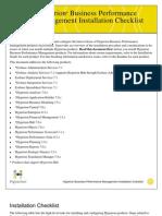 Ha 7010 Installation Checklist