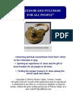 True India Latest Colossians Book Jan 16 2009