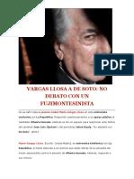 Vargas Llosa a de Soto