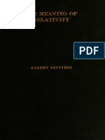 Meaning of Relativity Einstein