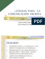 ESTRATEGIAS PARA LA COMUNICACIÓN ESCRITA