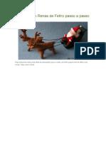 Papai Noel e Renas de Feltro Passo a Passo